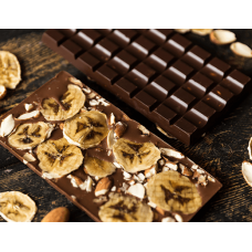 Молочный шоколад с карамелью, бананом и миндалём Mr.Konfetkin