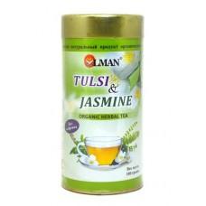 Чай тулси с жасмином (Tulsi & Jasmine organic herbal tea)
