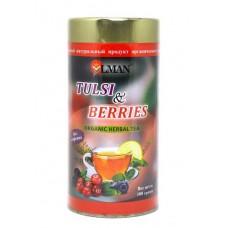 Чай тулси с лесными ягодами (Tulsi & berries organic herbal tea)