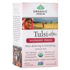 Чай Тулси с малиной и персиком, Organic India (1 пак)