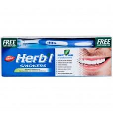 Зубная паста Dabur Herb'l Smokers для курильщиков (с зубной щёткой), 150г