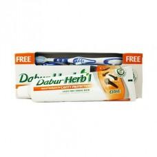 Зубная паста Dabur Herb'l Clove Гвоздика (с зубной щёткой), 150г