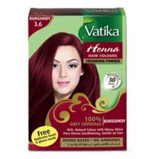 Краска для волос бордовая (Бургунд), Vatika
