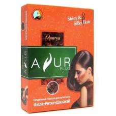 Порошок для волос Ayur Plus Амла, Ритха и Шикакай, 50г