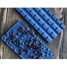Белый шоколад с голубым чаем матча и черникой Mr.Konfetkin