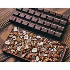 Тёмный шоколад с маслом кофе, фундуком и шелковицей Mr.Konfetkin