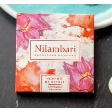 Шоколад нежный на кэробе с клубникой и бананом, Nilambari