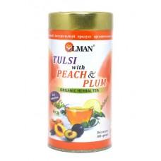 Чай тулси с персиком и сливой (Tulsi & Peach and Plum organic herbal tea)