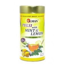 Чай тулси с мятой и лимоном (Tulsi & Mint and Lemon organic herbal tea)