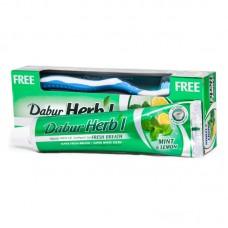 Зубная паста Dabur Herb'l Mint & Lemon Мята и Лимон (с зубной щёткой), 150г
