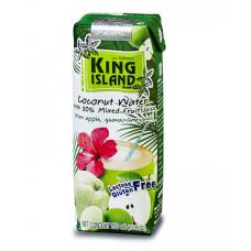 """Кокосовая вода с фруктовыми соками (яблоко, лайм, гуава) """"King Island"""", 250 мл"""