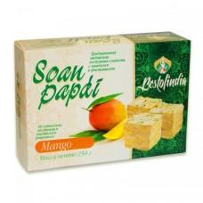 Индийские сладости Соан Папди с манго